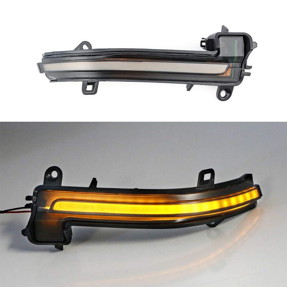 D/éfilement Dynamique Indicateur LED Orange pour F20 F21 F22 F30 F31 F35 F80 F32 1 2 3 4 S/érie X1 i3 1 Paire de Clignotant de Miroir Lat/éral Coquille Blanche