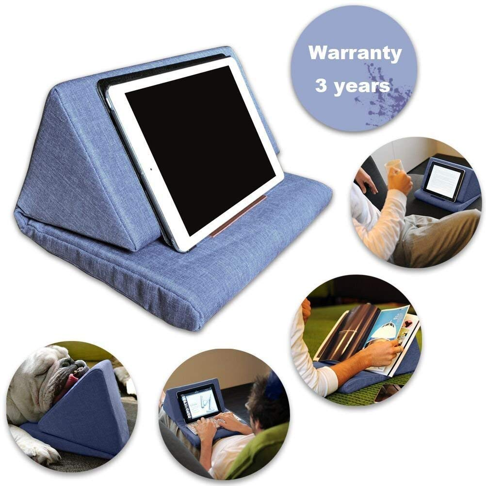 Bagvhandbagro Tablet Pillow Holder, Mini Tablet Holder Sofa Reading Stand,Self Standing Or Use on Lap, Bed, Sofa, Couch,for Galaxy and IPad.Color Blue