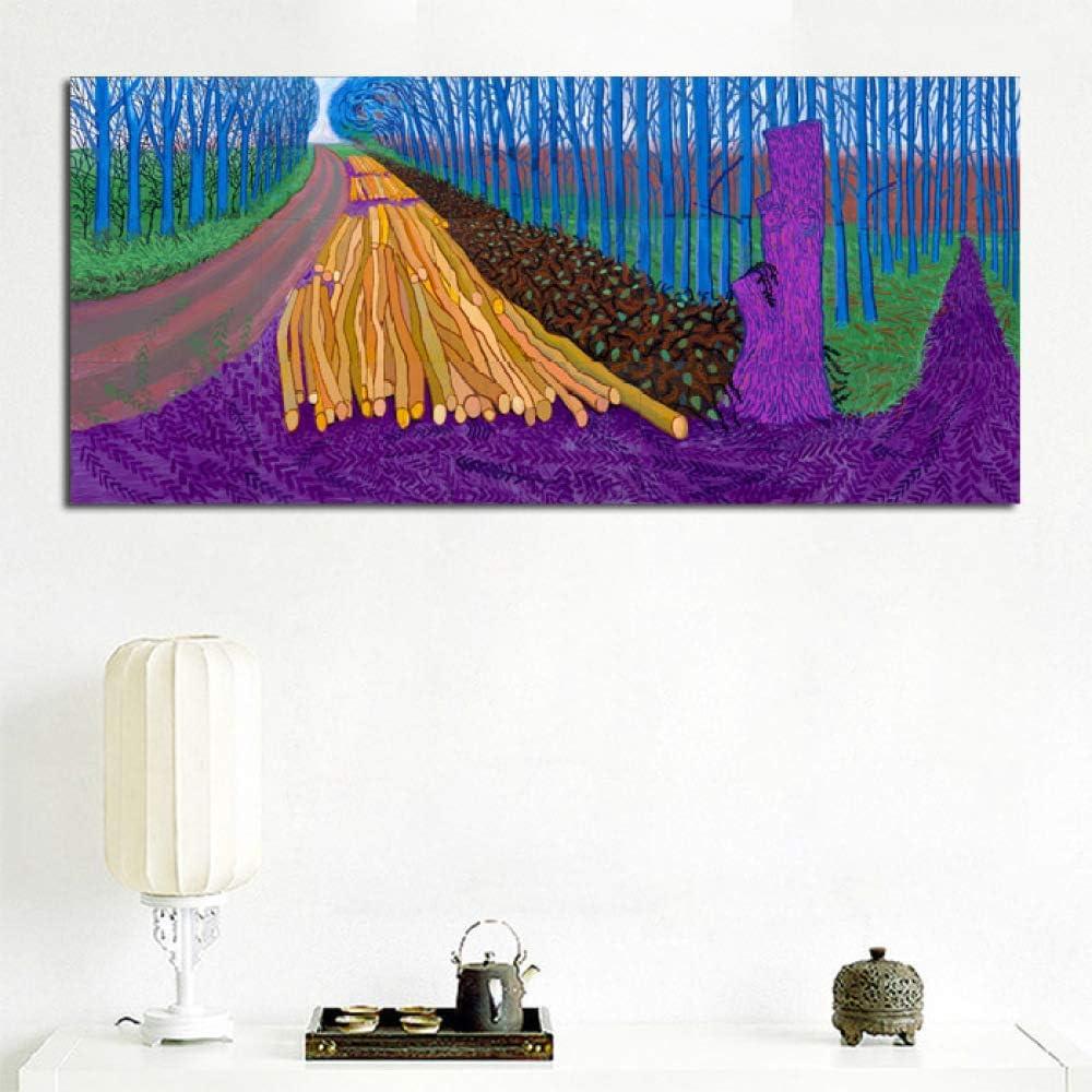 zlhcich Árbol de Paisaje sin Marco Pintura al óleo salón Pintura Decorativa corazón Davib 60x120cm: Amazon.es: Hogar