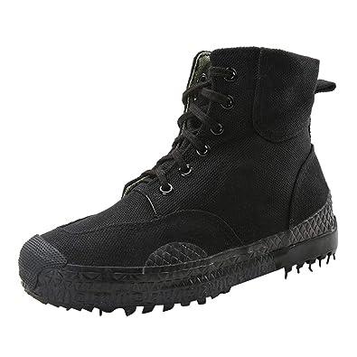 Highdas Herren Outdoor Boots Army Stiefel - High Worker Boots  Einsatzstiefel Kampfstiefel Wanderschuhe Combat Boots Leinenschuhe 7a52778ba1