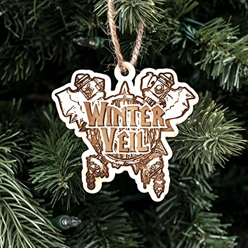 Ornament - Winter Veil - Raw Wood 3x3in ()