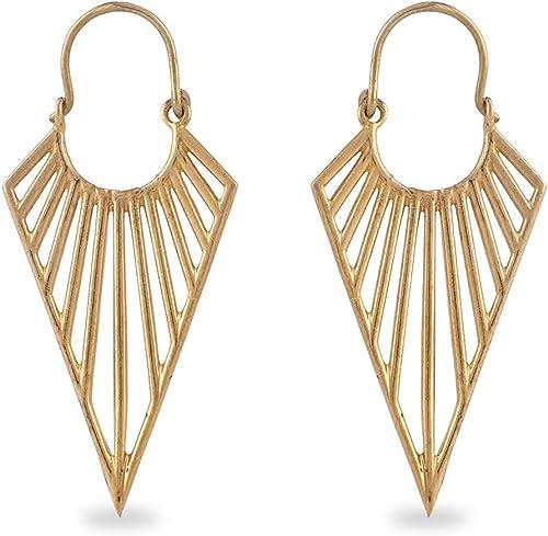 hoop earrings with pendant gift gift girlfriend boho earrings boho earrings Gold earrings boho jewelry gold hoop earrings gold jewelry