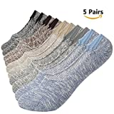 Casual Socks for Women Low Cut Cotton Socks No Show Athletic Ankle Socks Non Slip 5 Pack