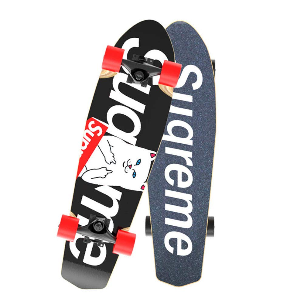 27.7 Bois d/érable 7 Couches Muet Antid/érapant Skateboard Cruiser Complet 1-1 Unisex Street Skateboard