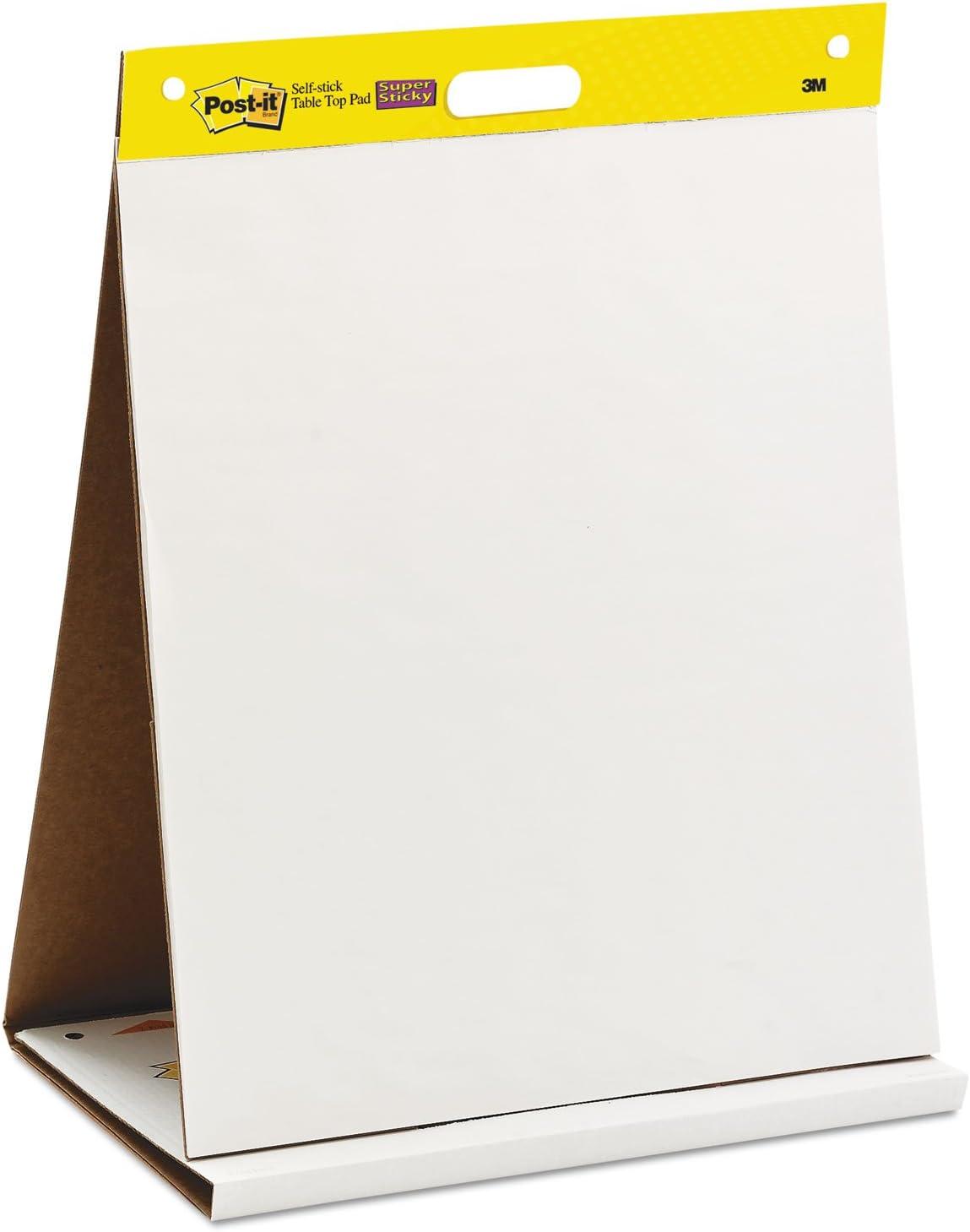 Bloc de papel reciclado para reuniones – Papel para pizarra rotafolios - Super Sticky
