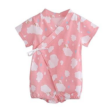6d748a3366f46 Amazon.com: Baby Romper Girls Boys Short Sleeve Cartoon Sheep ...