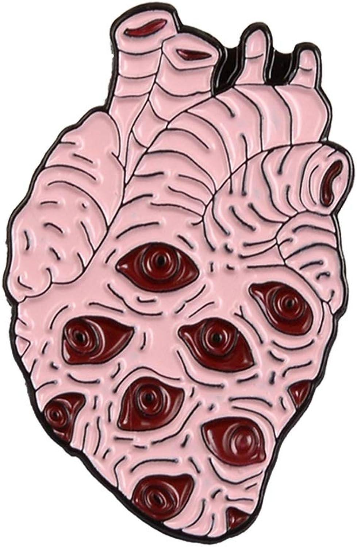 Organ Heart Collection Enamel Pin Van Gogh Starry Night Wave Universe Broken Hug Rose Brooch Bag Lapel Pin Badge Jewelry Gift