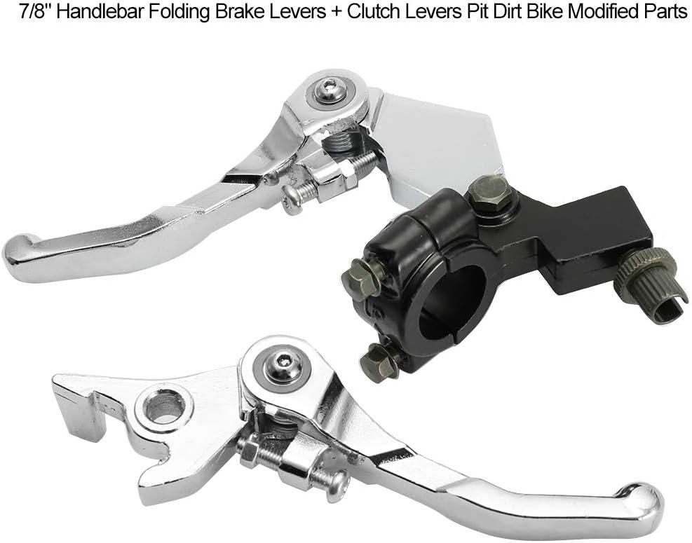 Aluminiumlegierung Klappbremshebel Yctze 7//8Lenker Kupplungshebel Silber Kupplungshebel Pit Dirt Bike Modified Parts