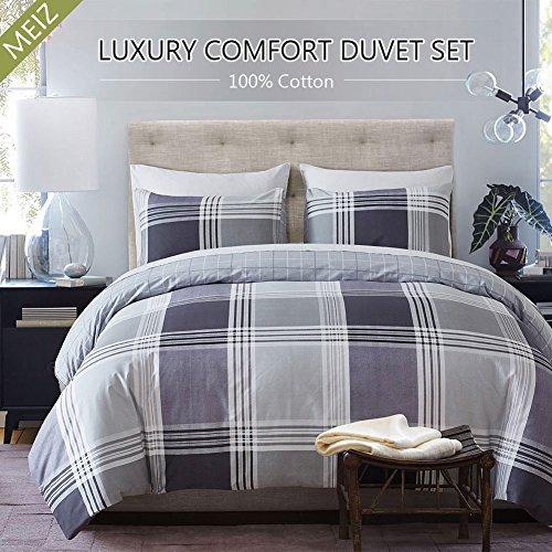 Meiz Duvet Cover Set - 1 Duvet Cover and 1 Pillowcase - 300