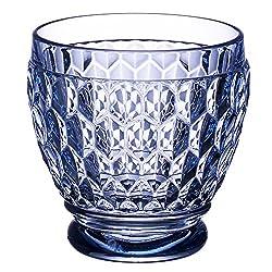 Blue Boston Blue Crystal Shot Glass, Set of 4