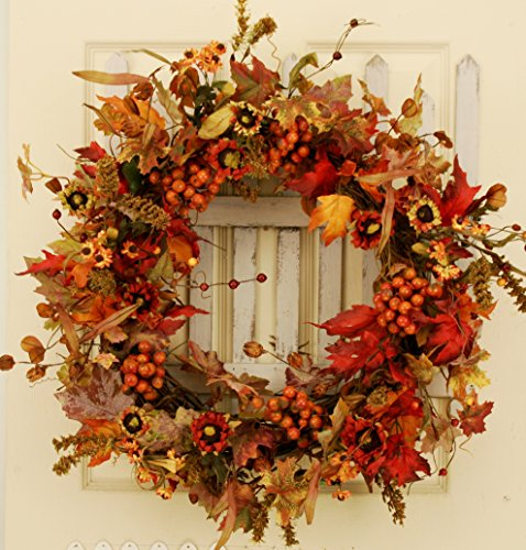 Valencia Red Berry Autumn Silk Wreath
