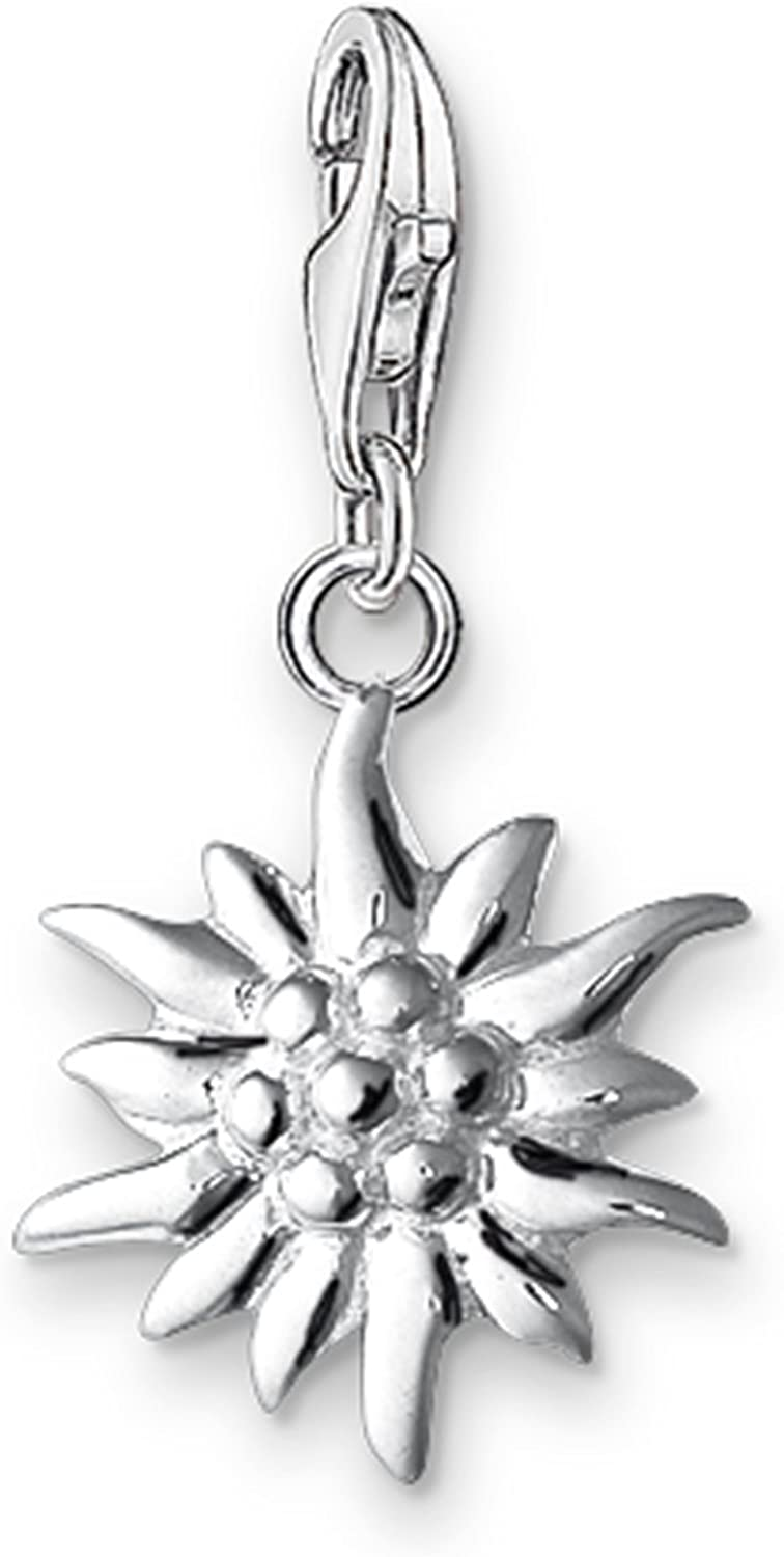 Thomas Sabo Femme Pendentif Charm Edelweiss Argent Sterling 925 0163-001-12