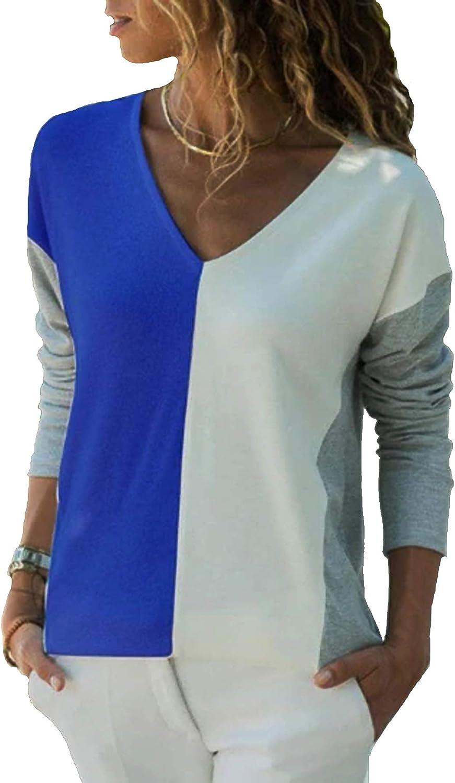 YOINS - Camiseta de manga corta para mujer, cuello redondo, hombros descubiertos, degradado