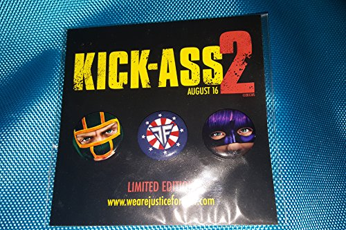 Kick-Ass 2 Button set of 4 SDCC Comic Con Limited Edition BX2