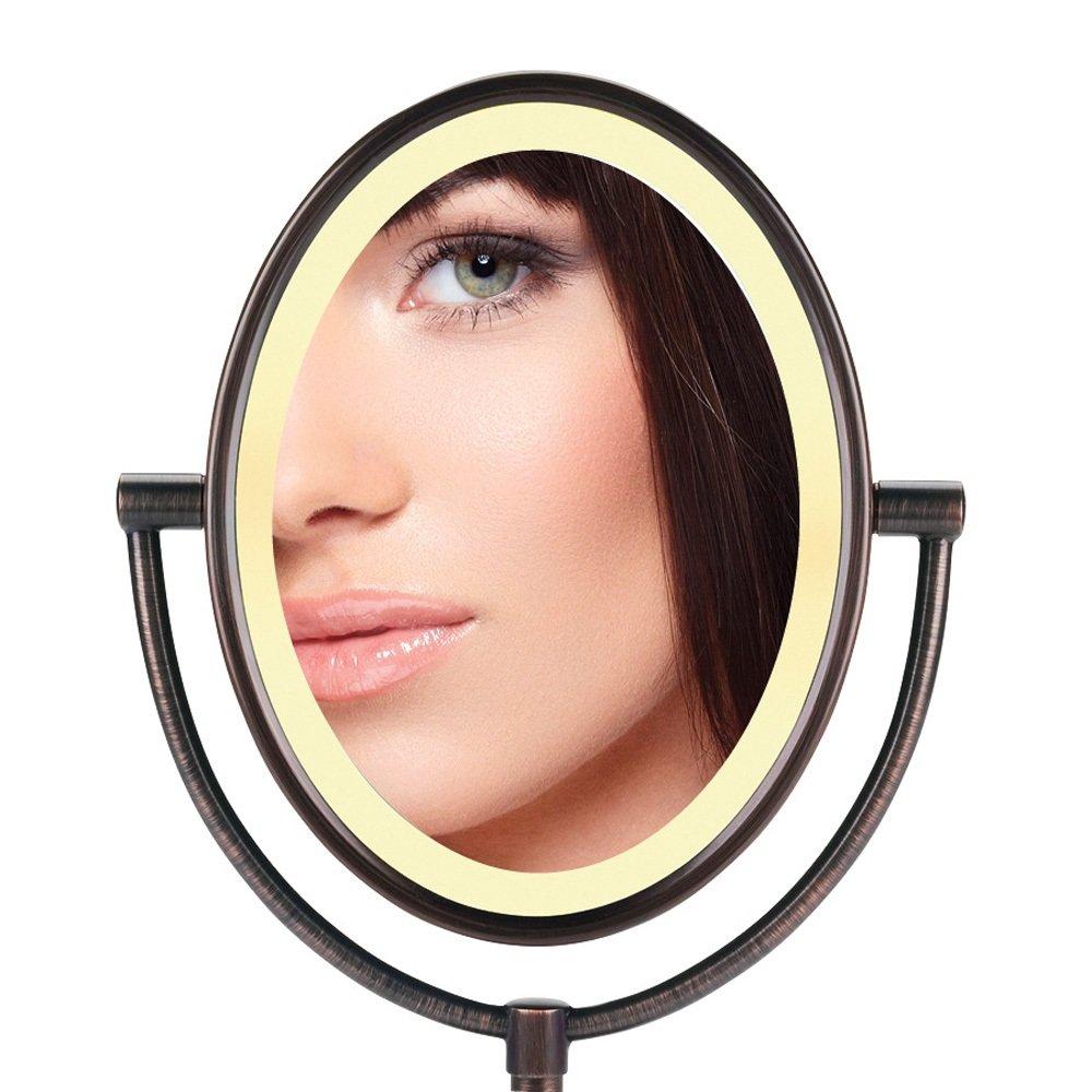 Conair 7x Lighted Makeup Mirror Bronze Makeup Vidalondon