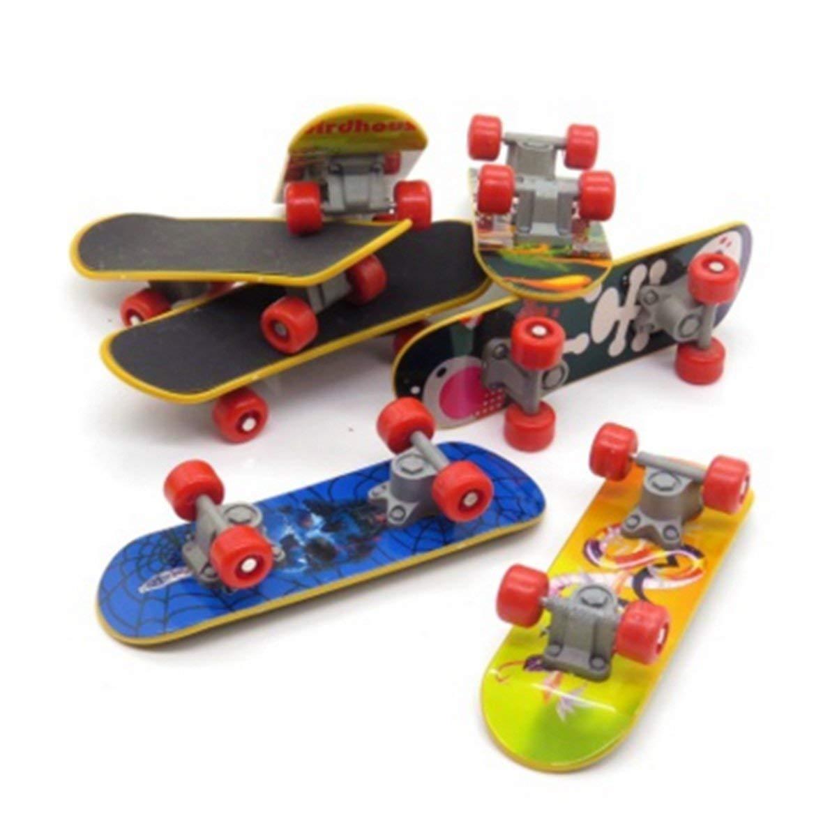 WINBOB 6 pcs Professional Mini Fingerboards/ Finger Skateboard, Unique matte surface (Random Pattern), Kids Toy Gift Party Favors
