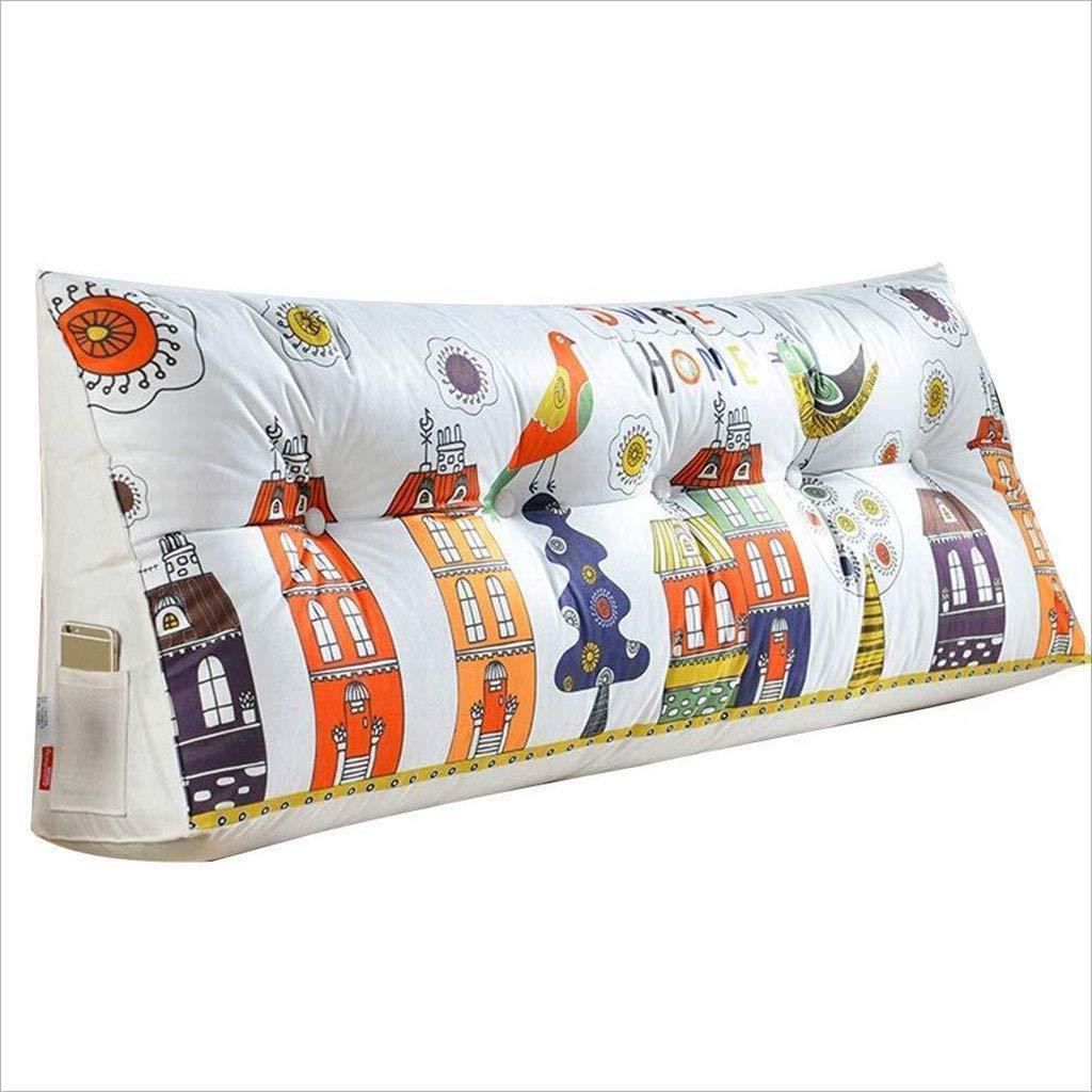 LQQGXL クッション 三角形クッション 畳枕 ベッドバックレスト 取り外し可能 洗濯可能 90cm 90cm A B07KV9RZQR