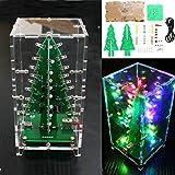 SanSiDo Arduino DIY Christmas Tree RGB LED Light Electronic Soldering Sarter Kit Board With Transparent Cover
