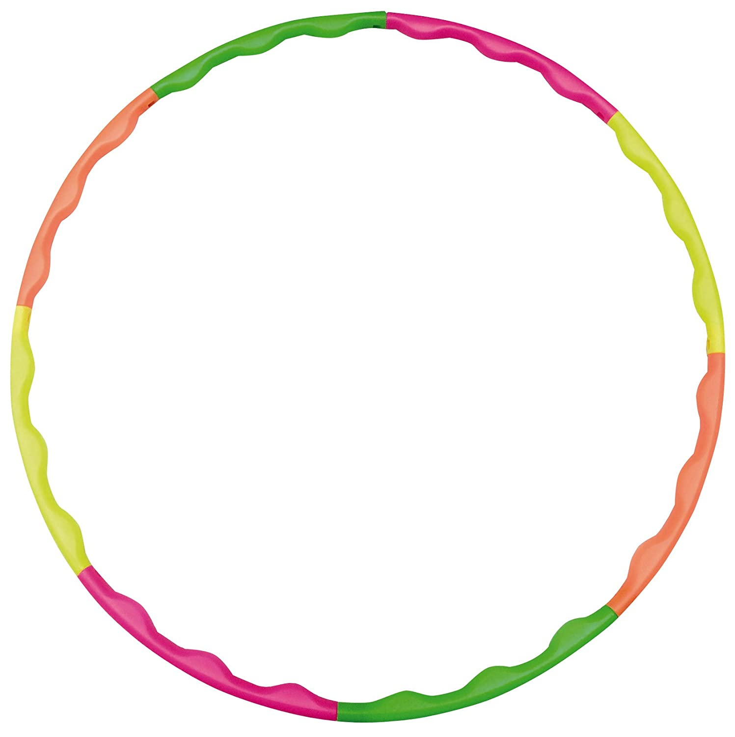 Hudora Hula Hoop, Green, Orange, Yellow, Pink, 76391 One Size
