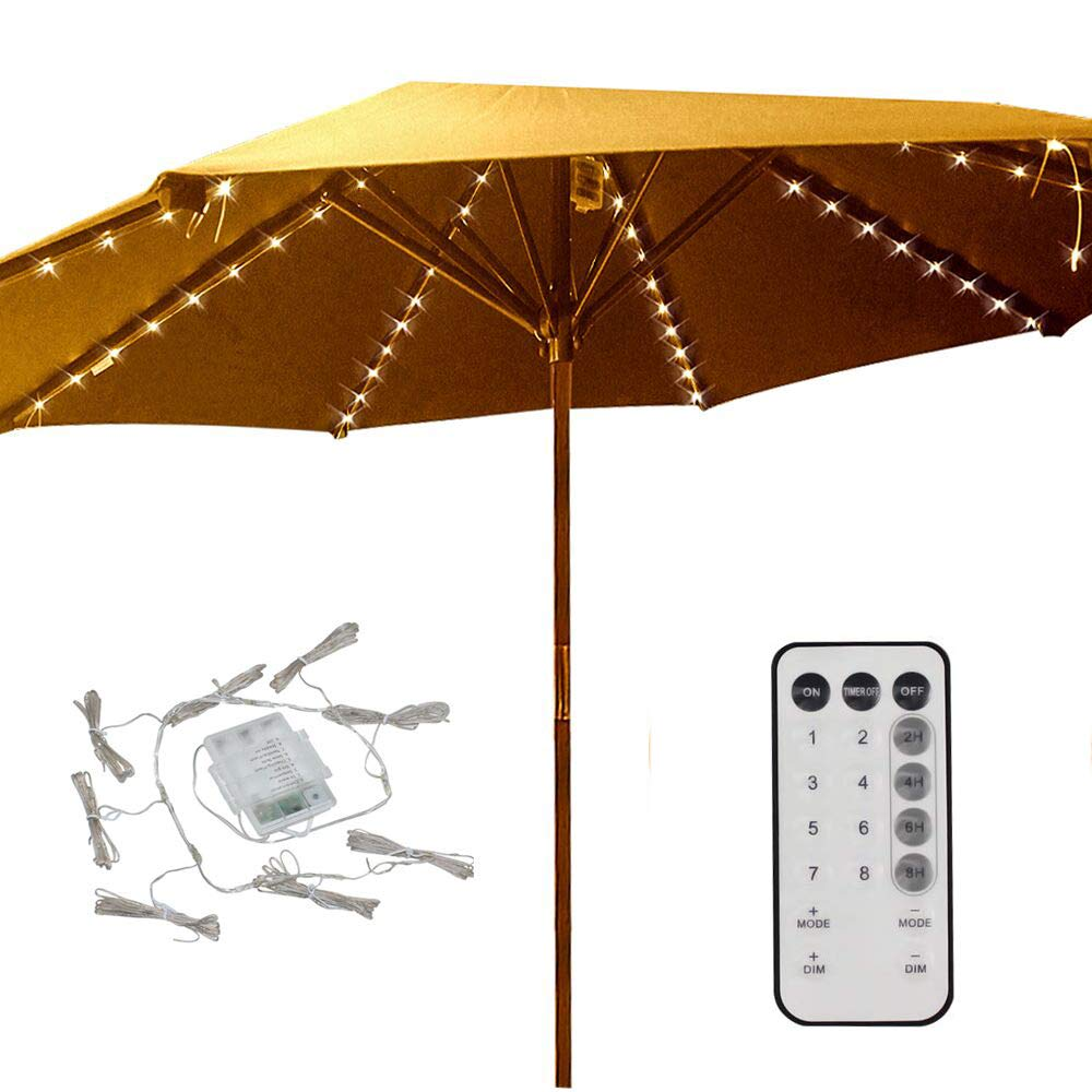 Beau Patio Umbrella Lights 8 Lighting Mode 104 LED String Lights With Remote  Control Umbrella Lights Battery Operated Waterproof Outdoor Lighting For  Patio ...