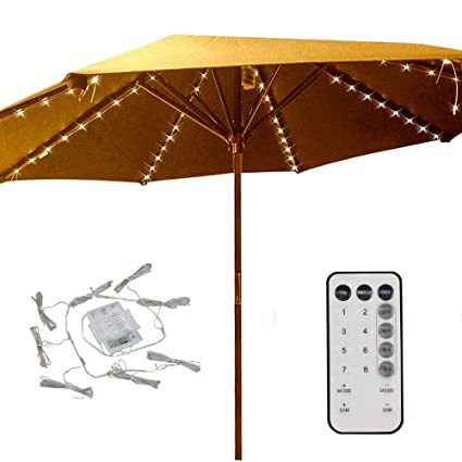 Delicieux Patio Umbrella Lights 8 Lighting Mode 104 LED String Lights With Remote  Control Umbrella Lights Battery
