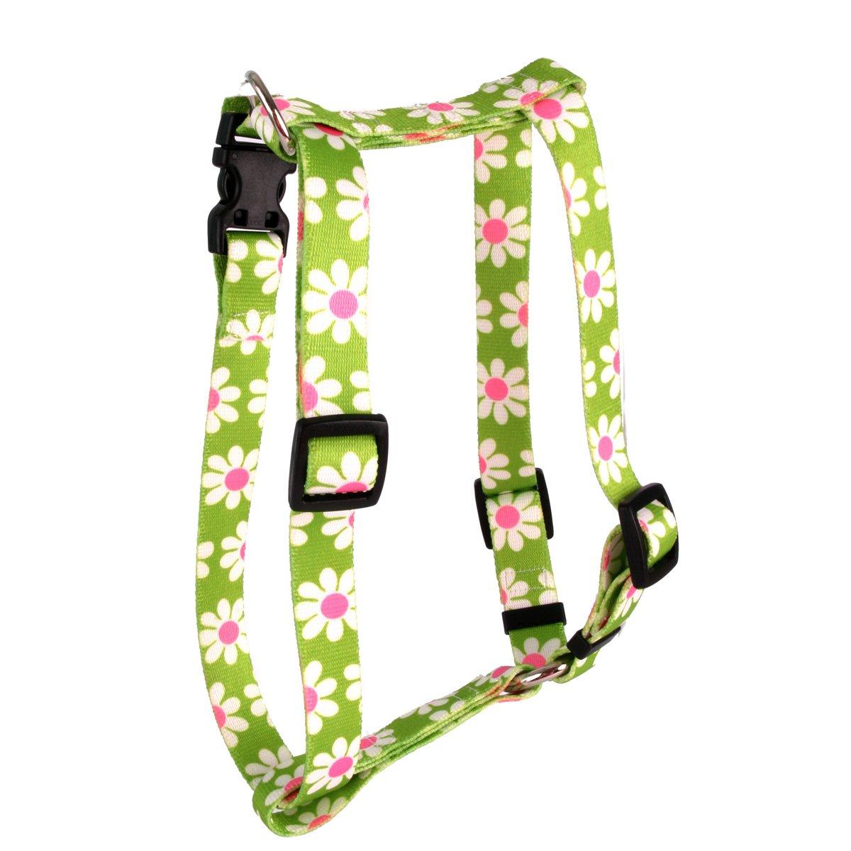 Yellow Dog Design Green Daisy Roman Style H Dog Harness, Large by Yellow Dog Design
