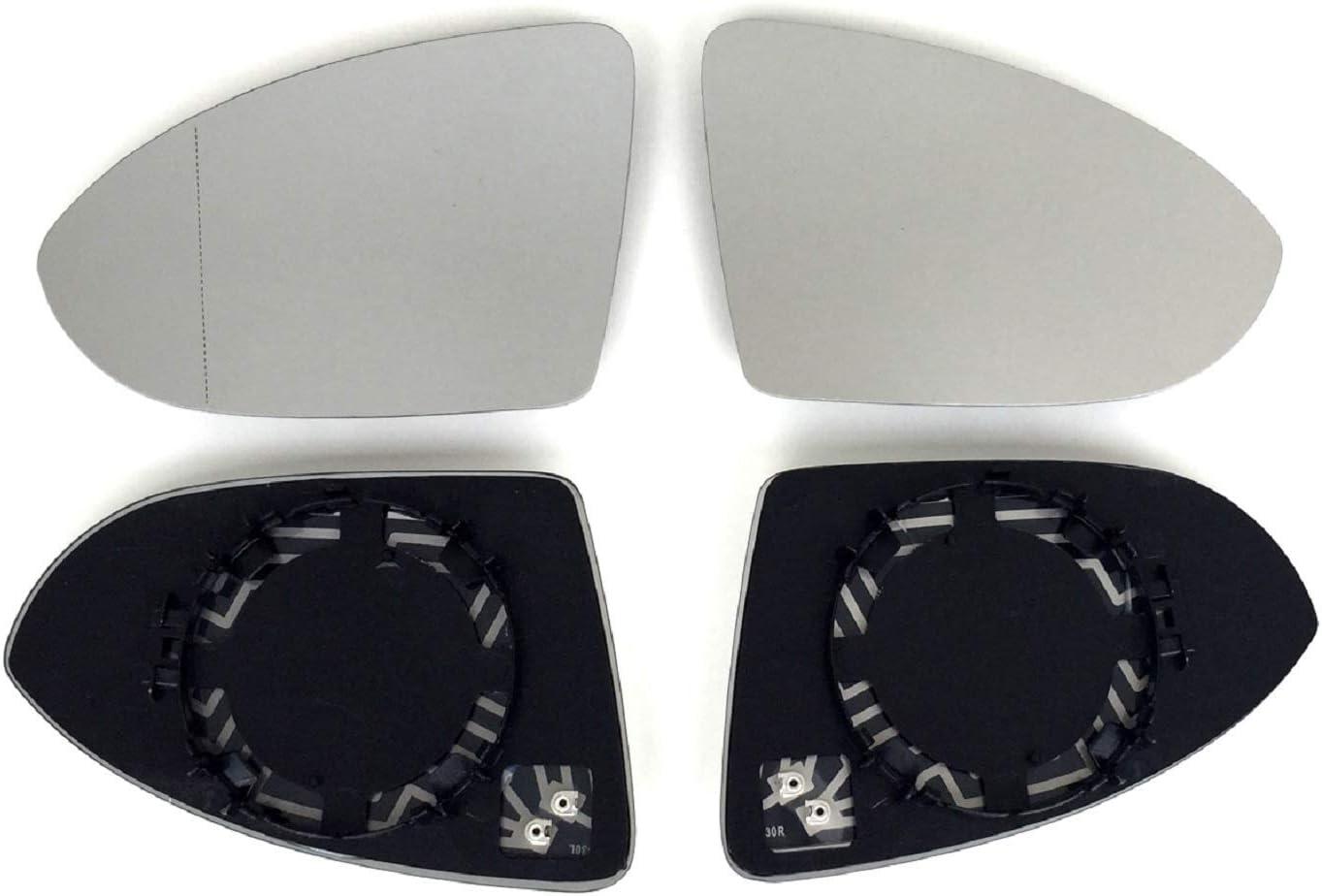 Pro Carpentis Spiegel Spiegelglas Links Rechts 2er Set Beheizt Ersatzglas Für Elektrische Und Manuelle Aussenspiegel Kompatibel Mit Golf 7 Ab 2013 Touran 5t1 Ab 2015 Auto