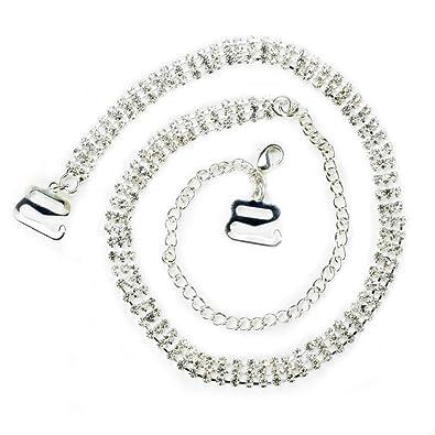 05e52baee582a TreasureBay Diamante Bra Straps Crystal Triple Rows - One Pair - Clear   Amazon.co.uk  Jewellery