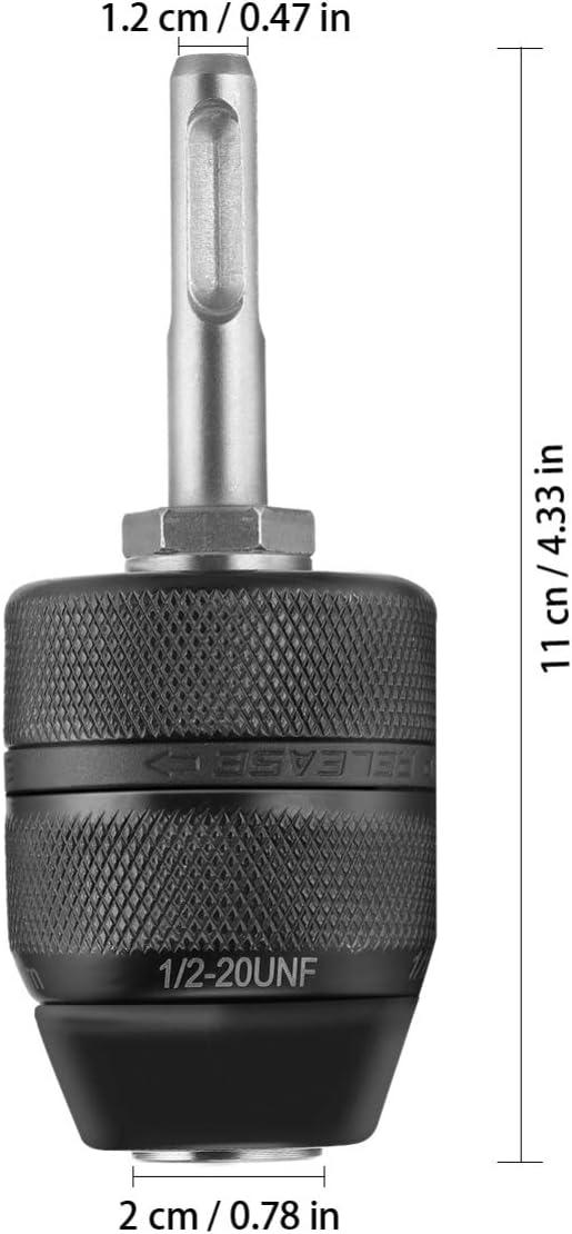 Hemoton Adattatore per Mandrino per Trapano 2-13Mm 1//2-20Unf Strumento Convertitore Professionale per Impieghi Gravosi con Adattatore Sds Plus Codolo