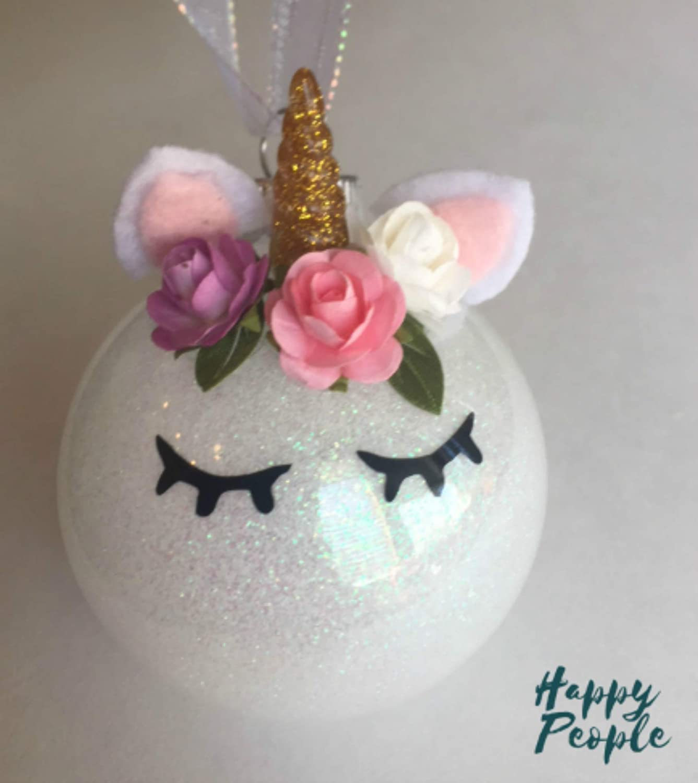 ornaments Glitter Unicorn Christmas Ornament holiday decor Christmas unicorn