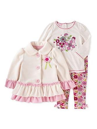 c6c2f51c0943 Amazon.com  Kids Headquarters Infant Girl Set Flower Shirt Leggings ...