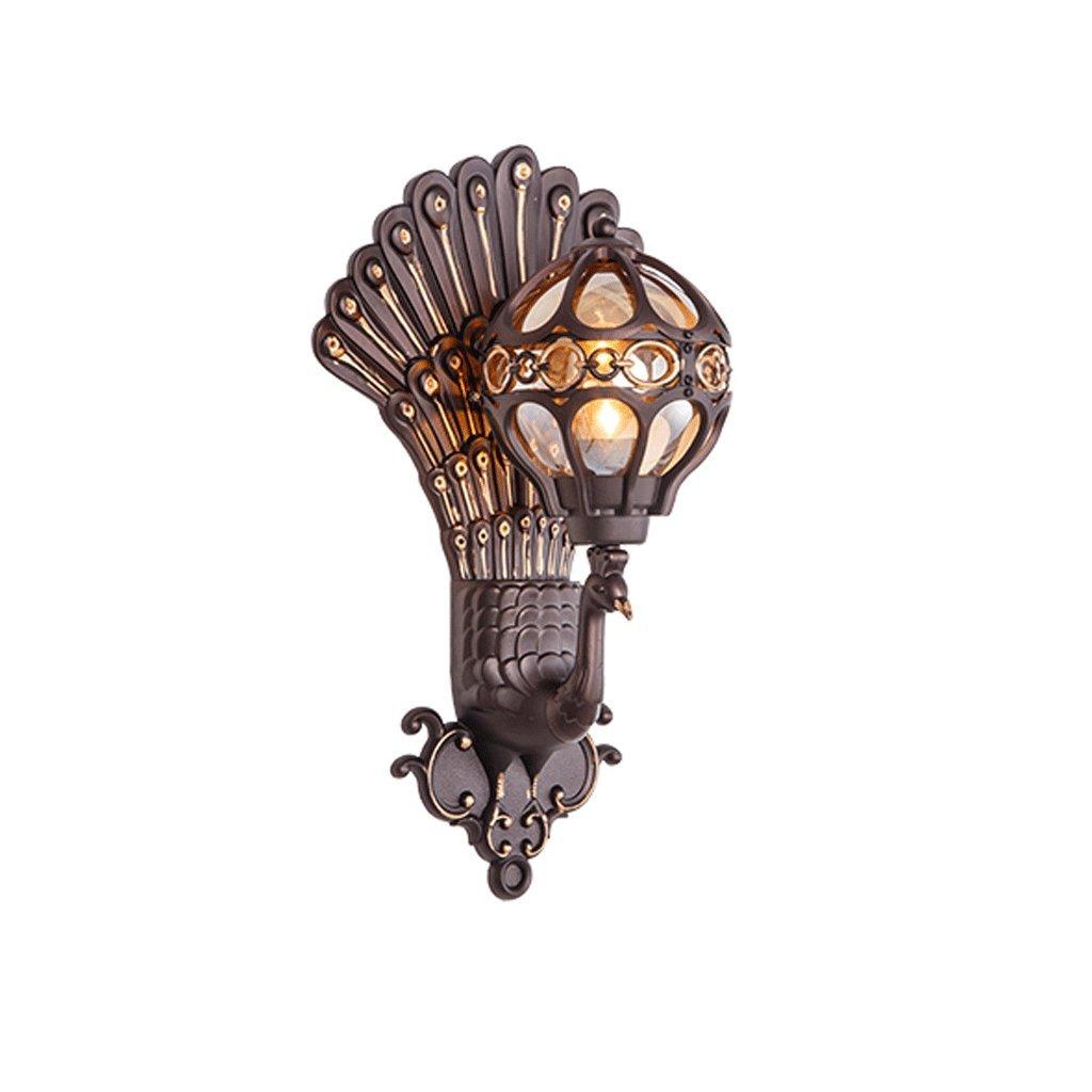 alta qualità generale YYF Lampada da parete impermeabile esterna europea impermeabile e resistente resistente resistente all'umidità Impermeabilizzi le luci impermeabili del giardino del portone retro lampada da parete creativa all'aperto del pavone  prezzi bassi di tutti i giorni