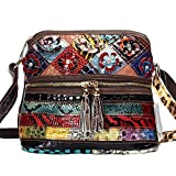 MCCKLE Women's Leather Multicolor Tote Crossbody Shoulder Bag (multicolour)