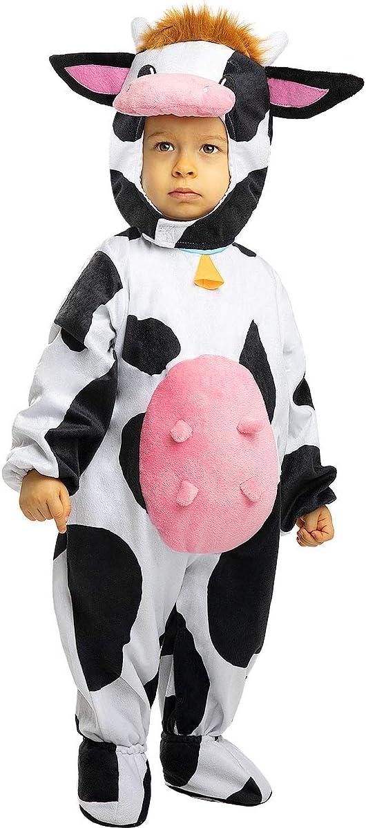 Funidelia   Disfraz de Vaca para bebé Talla 12-24 Meses ▶ Animales, Granja - Color: Blanco - Divertidos Disfraces y complementos para Carnaval y Halloween
