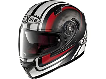 X-Lite Casco integral X-661 Slipstream N-Com blanco rojo mate 035