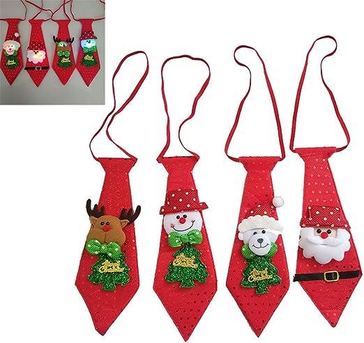 Surenhap Corbatas de Navidad de 4 Piezas niños con Papá Noel ...
