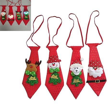 Schimer Corbata de Navidad Moda Creativa Novedad Casual Auto ...