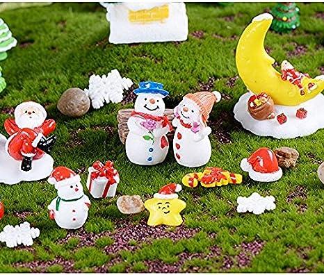 HSDDA de muñeco de Nieve de Navidad Micro Paisaje Enamorados Figura jardín Miniatura decoración Artesanía Micro Paisaje Adorno (Color Blanco): Amazon.es: Hogar