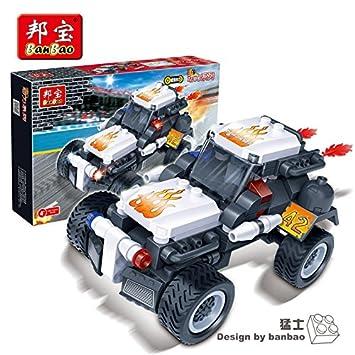 Amazon.com: BanBao 8622 modelos de coches de carreras 128 ...
