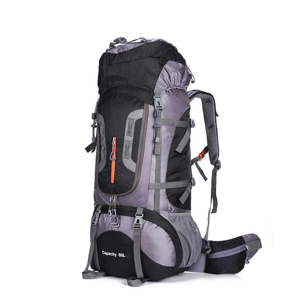 大80 L旅行バックパック防水軽量通気性リュックサックアウトドアスポーツブラケットパッケージ登山キャンプバックパック釣り旅行サイクリングバックパック男性と女性  Black B07PBDV425