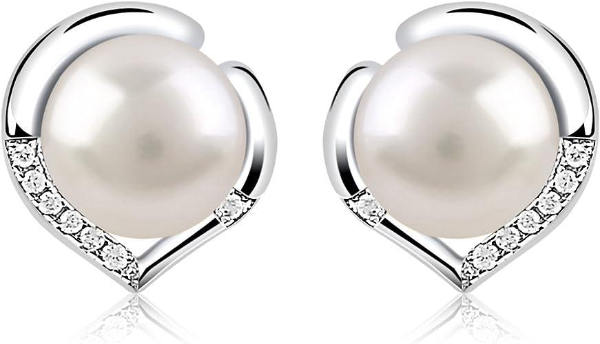 Pendientes Perlas Mujer Plata de Ley 925 ''El Lenguaje del corazón''