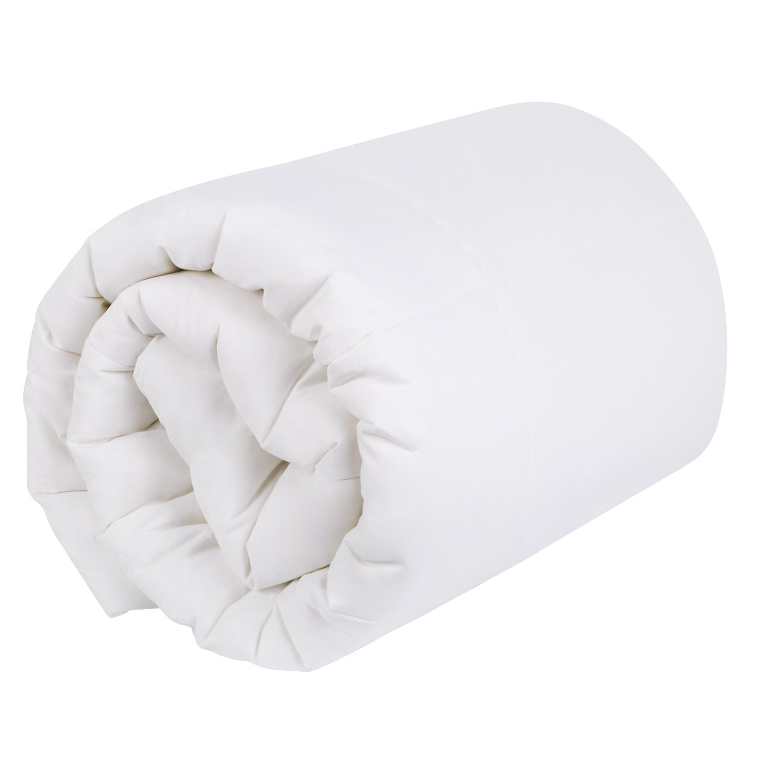 Homfy year round duvet 135 cm × 200 cm, quilt, breathable and suitable for allergy sufferers, white, Cotton, White, 135 x 200 cm