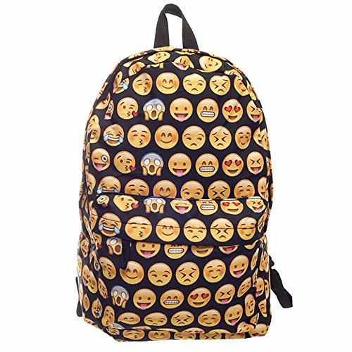 Cevinee™ Multi-room lovely Emoji Daily backpack, Cute Smile Face Kids' Schoolbag