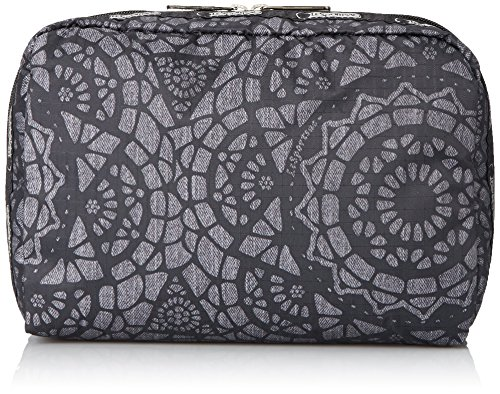 LeSportsac Extra Large Rectangular and Square Cosmetic Set Cosmetic Bag, Lace, One (Artwork Polyester Lace)