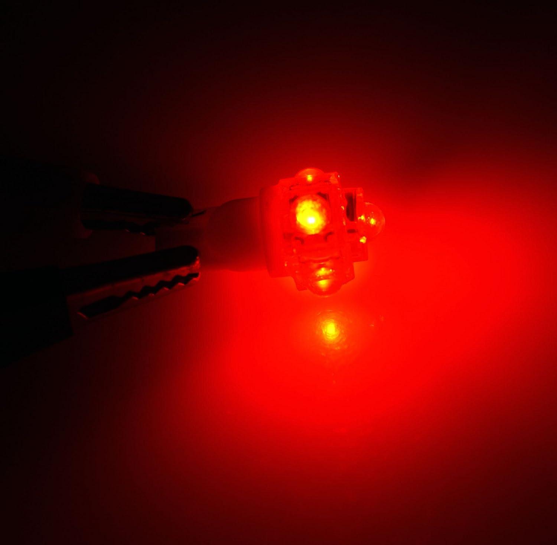 TuningPros LEDBL-T10-R5 Backup Reverse LED Light Bulbs T10 Wedge 5 Flux LED Red 2-pc Set
