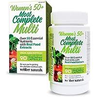 Webber Naturals Women's 50+ Most Complete Multi, Vegetarian Capsules, 90ct