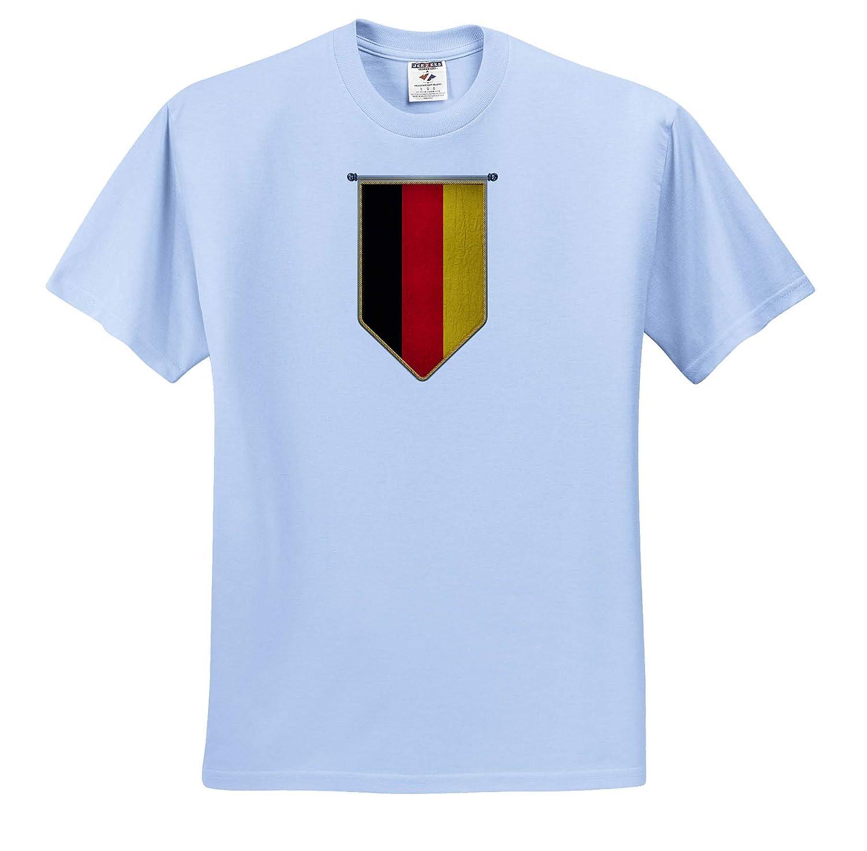 Illustrations Adult T-Shirt XL Germany Flag Pennant Vertical German Banner ts/_315418 3dRose Carsten Reisinger