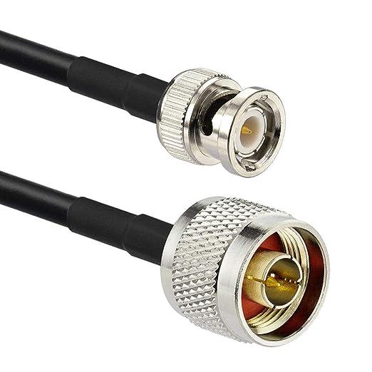 Diamoen N Macho a Macho BNC RF Cable coaxial RG58 de Baja pérdida ...