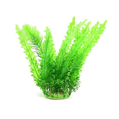 sourcing map Verde Hierba Planta de Algas de Plástico Acuario Pecera Decoración Ornamento