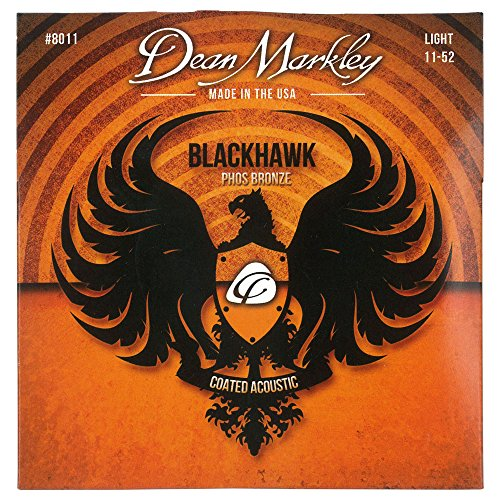 Dean Markley Blackhawk Coated Phosphor Bronze Acoustic Guitar Strings 11-52